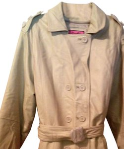 Excelled Large Buttons Soft Vintage Lamb Classy Trench Coat