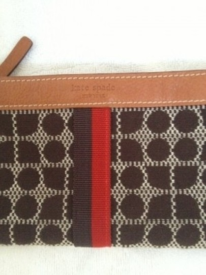 Kate Spade Chocolate and Red Clutch