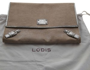 Lodis Silver and beige Clutch