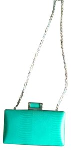 ALDO Hardware TEAL GREEN GOLD Clutch