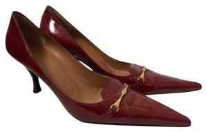 Delman Crimson Red Pumps