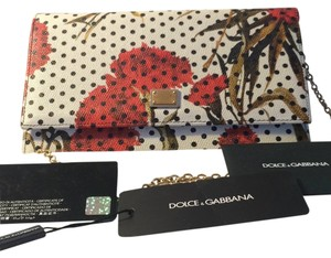 Dolce&Gabbana Polka Floral Flower Carnation Woc Wallet Chain Cross Body Bag