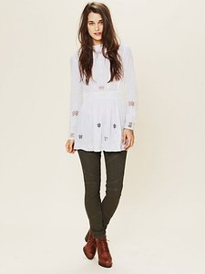 Free People Skinny Jeans-Medium Wash