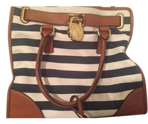 Michael Kors Satchel in Blue and white striped