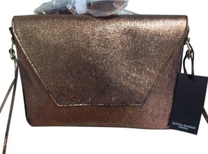 Olivia Harris Amanda Salmon Leather Cross Body Bag