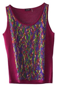 Magaschoni Silk Print Cotton Sleeveless Soft Top