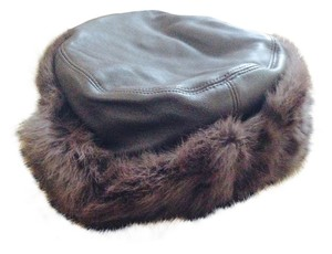 Wilsons Leather Wilsons Leather Hat with Real Rabbit Fur Trim Size S/M