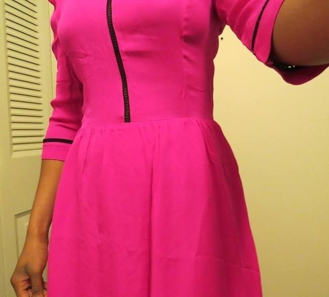 Dolce Vita short dress hot pink and black Silk Mini Neon on Tradesy