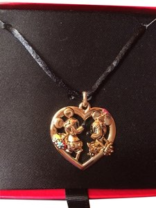 Disney Vintage Disney's Mickey & Minnie Open Heart Pendant