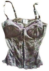 Anti-Flirt Paris Cami Bustier Bra Chocolate Top BROWN ROSE PURPLE