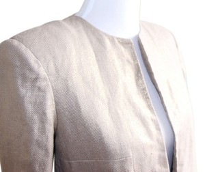 Zara Gold Woven tan, gold Jacket