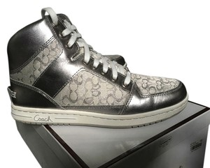 Coach Silver Sneakers High-top Silver/White Athletic