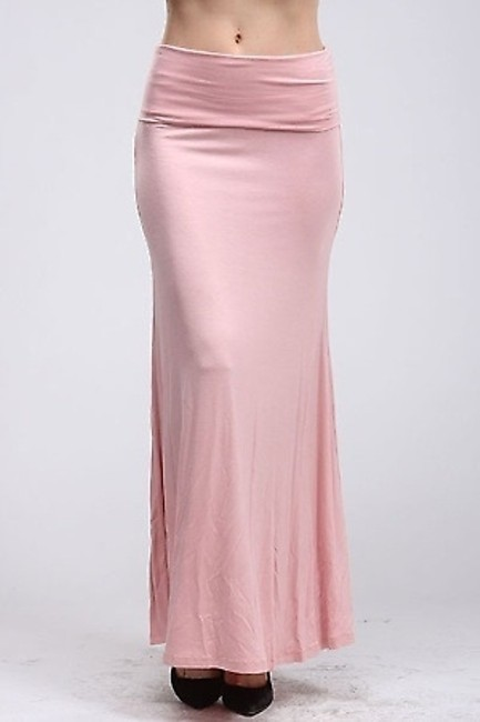 NYMPHE Full Length Maxi Skirt Peach