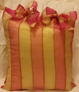 Other Organza pillow with stripes
