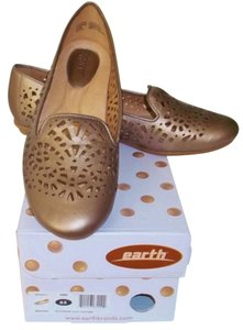 Kalso Earth Laser Cut Leather Comfort Platinum Flats