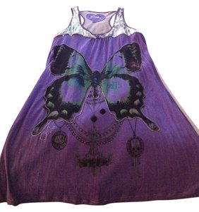 Custo Barcelona short dress purple and silver on Tradesy