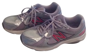 New Balance White, grey,pink Platforms