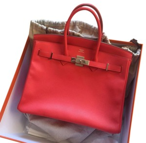 Herms Hermes 35cmbirkin Satchel in Rose Jaipur