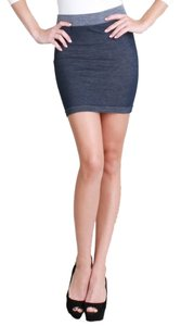 Nikibiki Two Tone Mini Skirt Blue