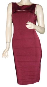 Guess short dress Maroon, Cranberry or Cabernet Banded Bodycon Bodyfit on Tradesy