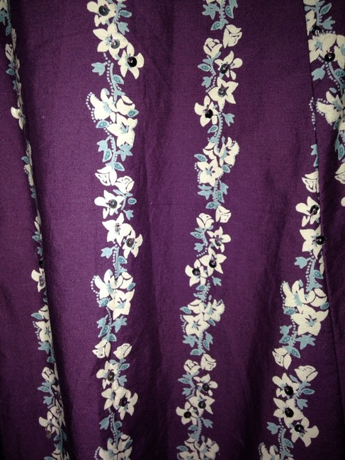 Roxy Skirt Purple Floral With Sequins