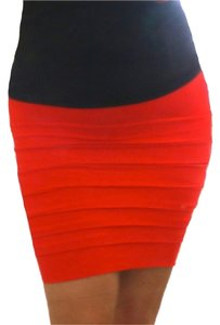 Nikibiki Seamless Mini Skirt Coral Red