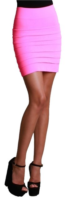Nikibiki Seamless Tiered One-size Mini Skirt Fuchsia