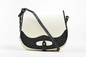 Ralph Lauren Spring 2013 Black And Leather Flap Crossbody Saddle Shoulder Bag
