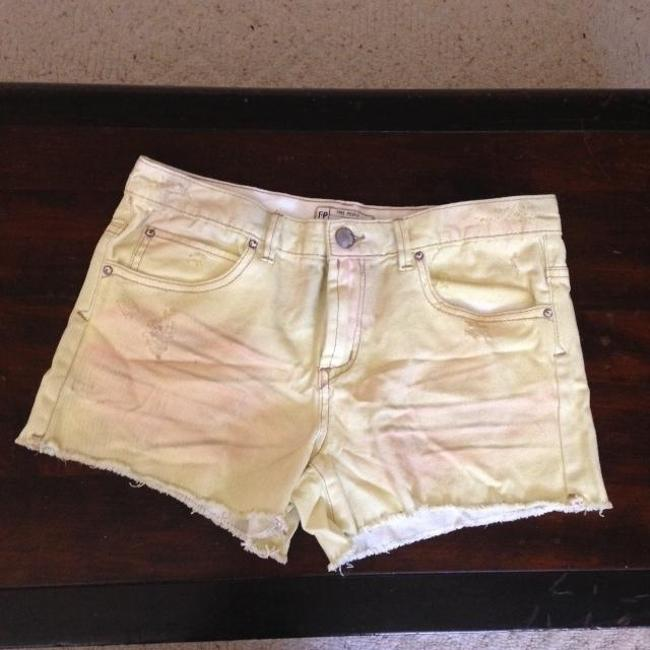 Free People Cut Off Shorts Yellow