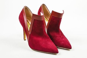 Rupert Sanderson Suede Red Boots