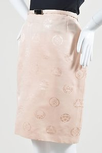 Versace Vintage Gianni Peach Skirt Pink