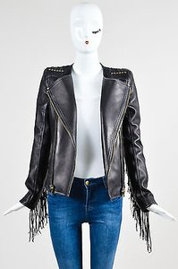 Balmain Gold Tone Motorcycle Jacket
