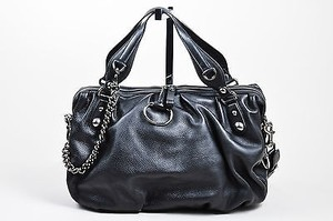 Gucci Leather Chain Satchel in Black