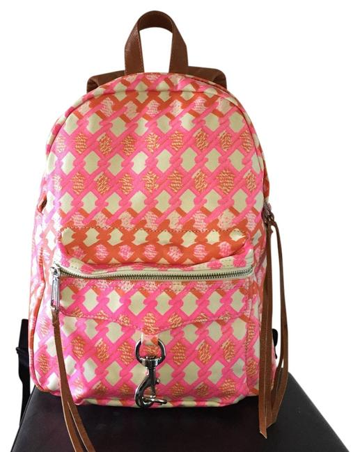 Item - Mab Pink Multi Leather Backpack