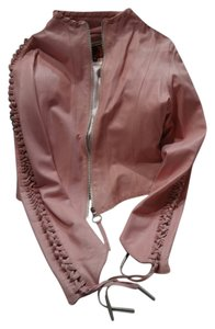 Hudson Jeans pink Leather Jacket
