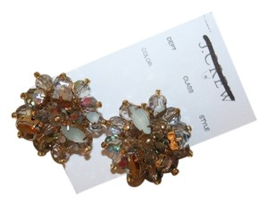 J.Crew J.CREW CRYSTAL AND PEARL STUDDED EARRINGS