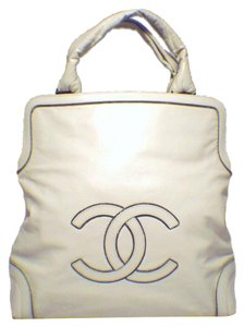Chanel Cc Logo Tote in Cream