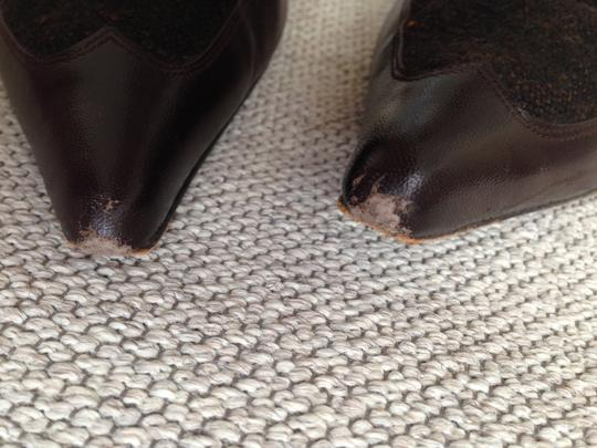 Paco Gil Stiletto Ankle Strap Sexy Brown tweed leather Pumps