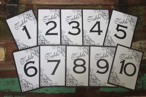 The Handford Collection Set Of 10 Table Numbers