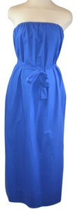 Blue Maxi Dress by J.Crew Strapless Belted Maxi Summer