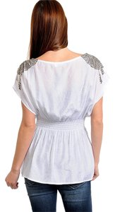 Other Chiffon Beaded Top White