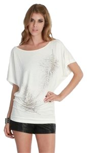 Nikibiki Gold Embellishments Top White