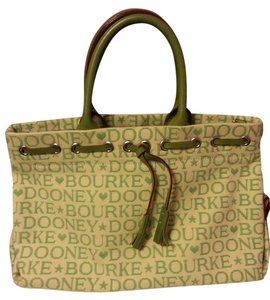 Dooney & Bourke Satchel in creme and green - item med img