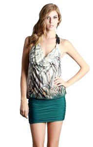 Nikibiki short dress Green Halter on Tradesy
