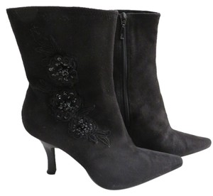 Impo Beaded Floral Size 8 Black Boots