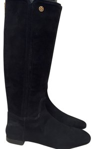 Tory Burch Tall Suede 6 Black Boots