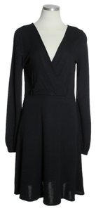 Theory short dress Black Wool Blend Knit Long Sleeve on Tradesy
