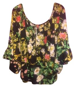 Betsey Johnson Top Black floral print