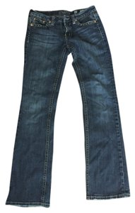 Miss Me Stitching Boot Cut Jeans-Distressed