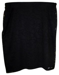 Kasper Eyelet 2x 18/20 New W/Out Tags Skirt Black